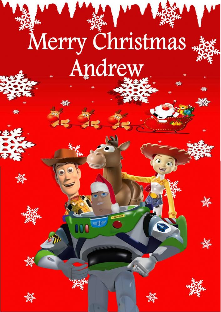 Personalised Toy Story Christmas Card